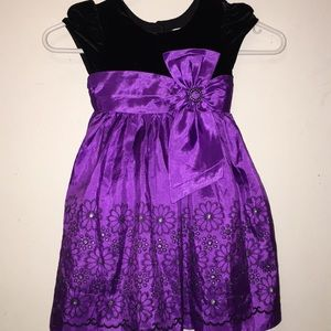 Other - Black and Purple Frilly girls dress